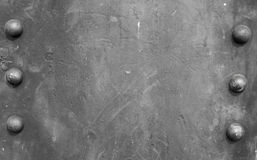 Metal plate background with six spot royalty free stock photos