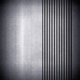 Metal plate background with stripe Royalty Free Stock Images