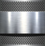 Metal plate background Royalty Free Stock Photography