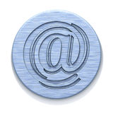 Metal plate with a badge Royalty Free Stock Photo