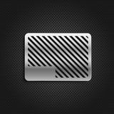 Metal plate on black background Stock Images