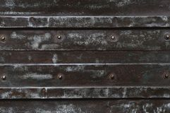 Metal plate with bolt Royalty Free Stock Photography