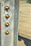 Metal Plate With Bolts Stock Photo
