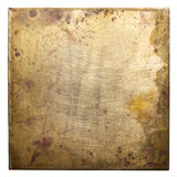 Metal plate. Brass plate texture, old metal background Royalty Free Stock Photo