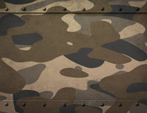 Metal plate with camouflage 3d illustration Royalty Free Stock Photography