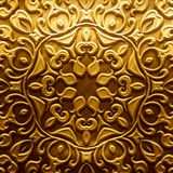 Metal Plate with carved pattern royalty free stock images