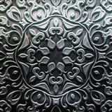 Metal Plate with carved pattern Stock Photography