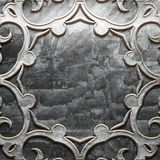 Metal Plate with carved pattern royalty free stock photo