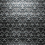 Metal Plate with carved pattern Stock Images