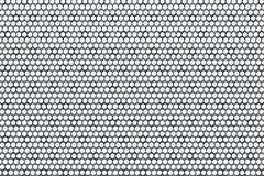 Metal Plate Covered with Lines of Circular Holes. 3d Rendering. Metal Plate Covered with Lines of Circular Holes extreme closeup. 3d Rendering Stock Photography