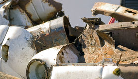 Metal Plate garbage waste. Corrosion on metal plate garbage Stock Photos