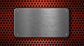 Metal plate industrial background Stock Photo