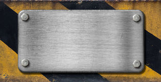 Metal plate industrial background Royalty Free Stock Photos