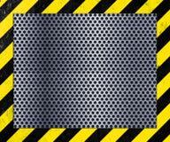 Metal Plate. Industrial perforated metal flooring background Stock Photo