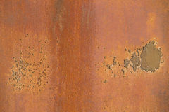 Metal plate. Old rusty metal plate as a background Royalty Free Stock Photography