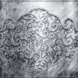 Metal plate with ornament Royalty Free Stock Photo