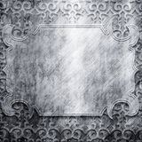 Metal plate with ornament Stock Image