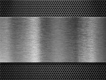 Metal plate over comb grate background Royalty Free Stock Image