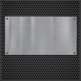 Metal plate over grate texture Royalty Free Stock Photography