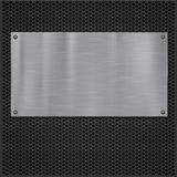 Metal plate over grate texture Stock Photography