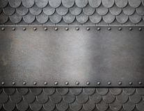 Free Metal Plate Over Scales Armor Background Stock Photo - 48316840