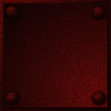 Metal plate with rivets Royalty Free Stock Images
