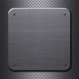 Metal plate with rivets Royalty Free Stock Photography