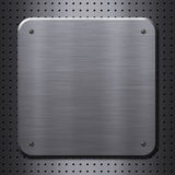 Metal plate with rivets Stock Images
