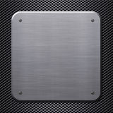 Metal plate with rivets stock photography