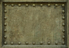 Metal Plate With Rivets Royalty Free Stock Photo
