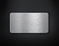 Metal plate with rivets industrial background Royalty Free Stock Photos