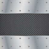 Metal plate and screw illustration Royalty Free Stock Image