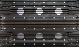 Metal plate with screws concept industrial photo background Royalty Free Stock Photography