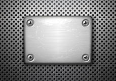 Metal plate with screws Stock Image