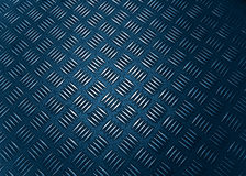 Metal plate. With shiny shapes - prussian blue tone royalty free stock photo