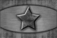 Metal plate with the star Royalty Free Stock Images