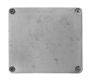 Metal plate steel Royalty Free Stock Photos