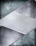 Metal plate steel background. Royalty Free Stock Photos