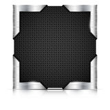 Metal plate with steel corners Royalty Free Stock Photos