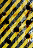 Metal plate with stripes Stock Photography