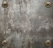Metal plate Stock Image