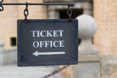 Metal plate for ticket office Royalty Free Stock Photo