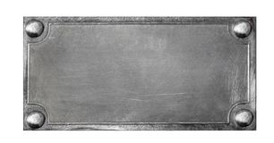 Metal plate on white background Stock Photo