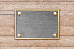 The metal plate Royalty Free Stock Photos