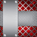 Metal plates background Royalty Free Stock Images