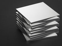Metal plates. 3d rendering stack of metal plates Royalty Free Stock Image