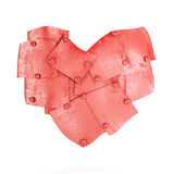 Metal plates in heart shape Stock Photography