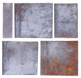 Metal Plates Isolated On White Stock Photo