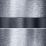 Metal plates over dark brushed metallic background 3d illustration Royalty Free Stock Image