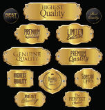 Metal plates premium quality golden collection Stock Photography